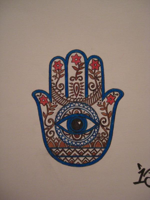 Indian-fusion Hamsa Tattoo by ~JimmyBlaze on deviantART