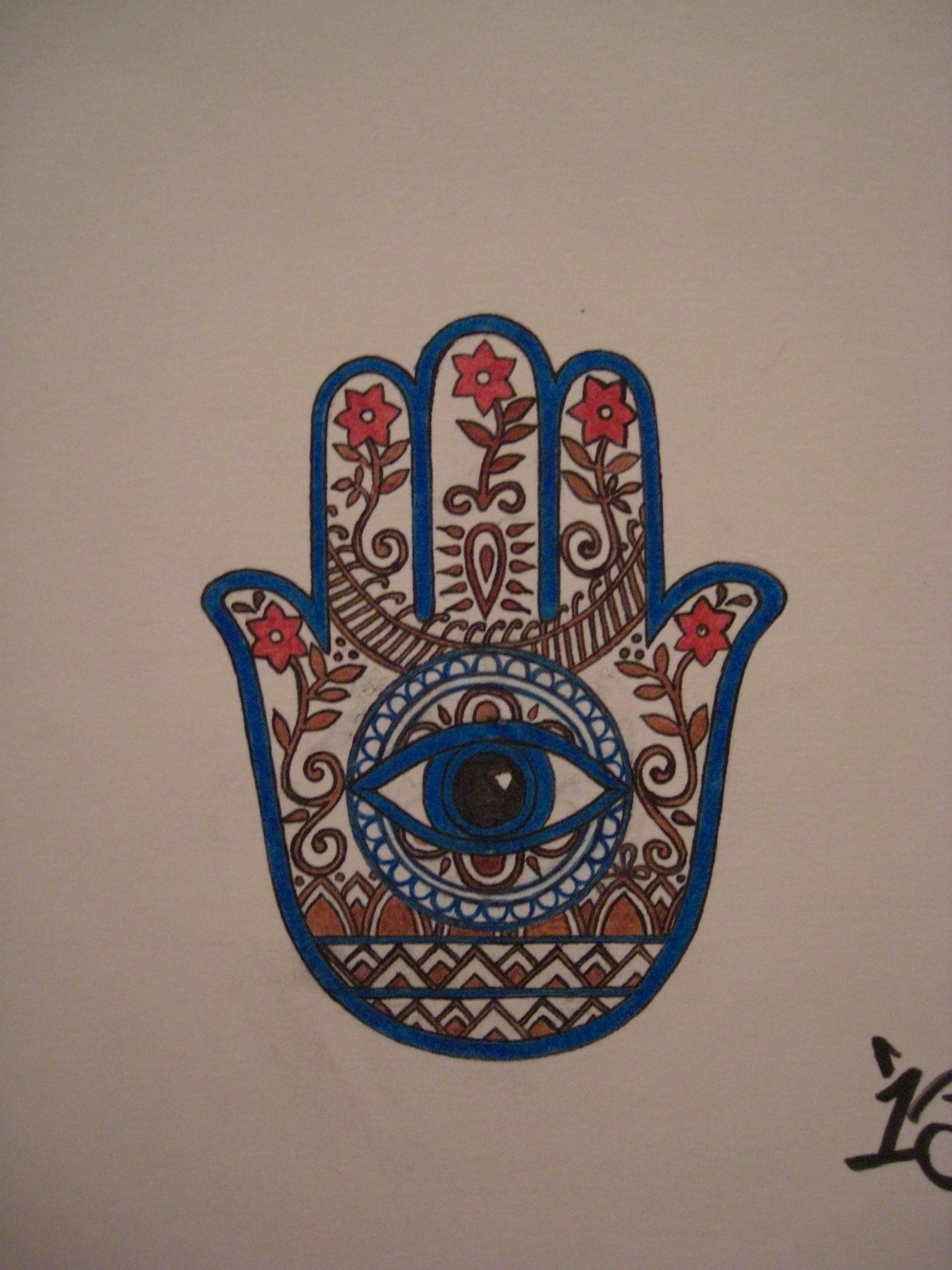 evil eye hand art the image kid has it. Black Bedroom Furniture Sets. Home Design Ideas