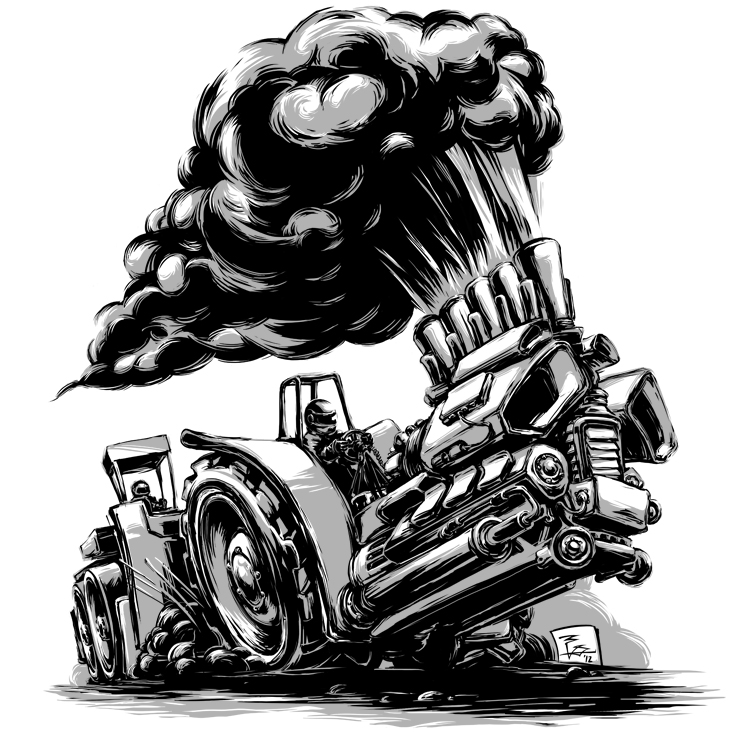 Black White An D Tractor Pulling Wagon : Tractor pulling by nitrouzzz on deviantart