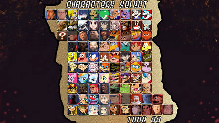 Youtube Poop Fighting Game Character Select Screen by GamingFan1997