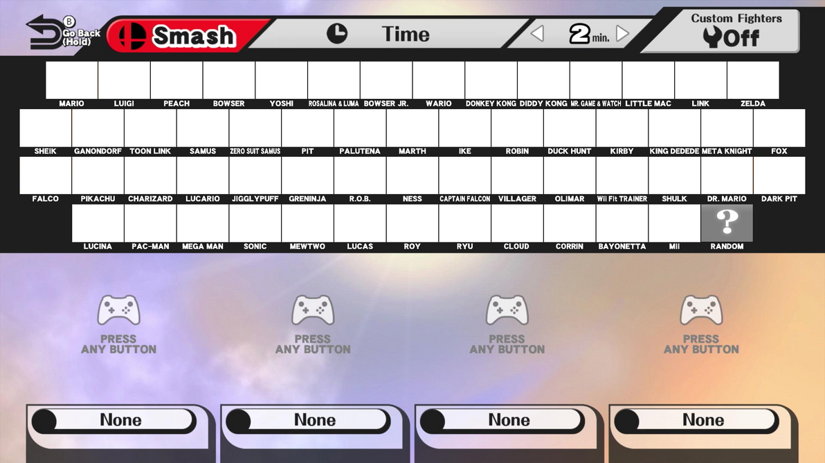 Create Your Own Super Smash Bros. Roster by GamingFan1997