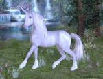 Silver White Unicorn