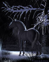 Winter Unicorn by Daio