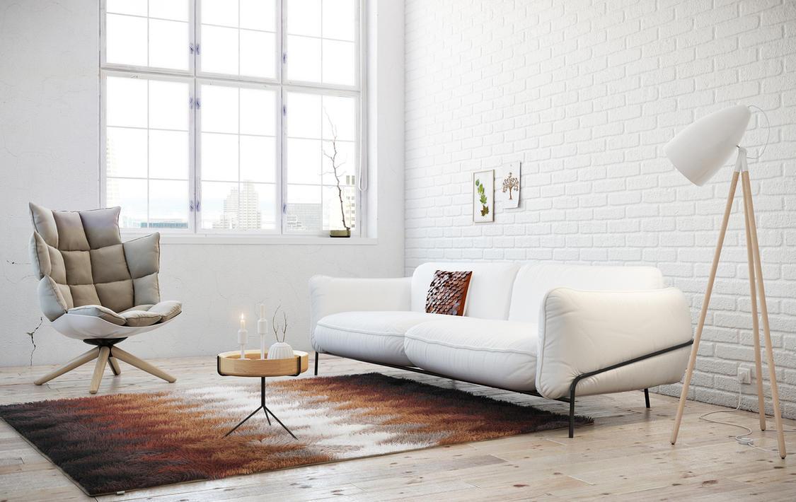 Simply nordic living room by alexcom on deviantart for Designer wohnungseinrichtung