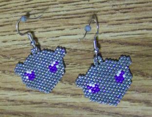 Yuki Rat Earrings by laurahonest