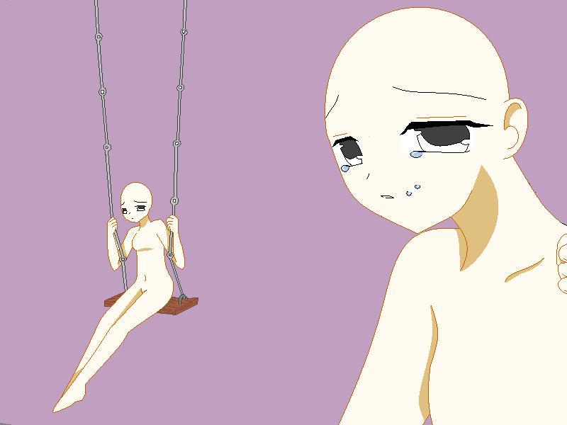 Sad Anime girl Base by Tadahashi on DeviantArt