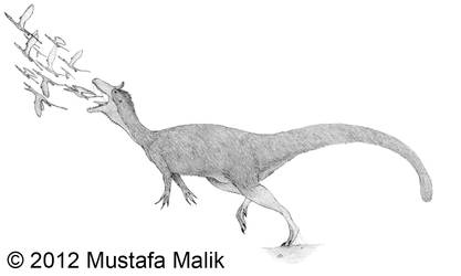 Cryolophosaurus After the Golden Snitch Uncolored
