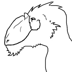 Yutyrannus with a big smirk (no color)
