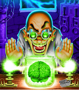 Mad Scientist with Brain by Kenny Kiernan