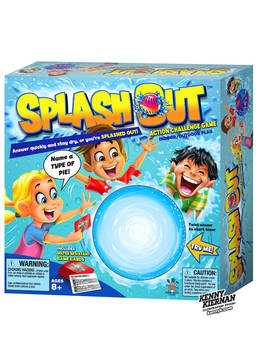 Splash Out toy packaging by Kenny Kiernan