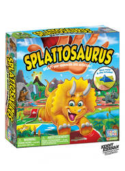 Splattosaurus dinosaur game box by Kenny Kiernan