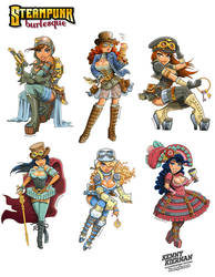Steampunk character collection by Kenny Kiernan