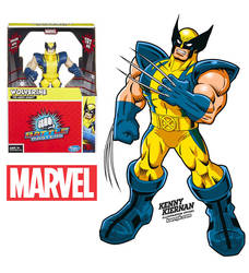 Wolverine Marvel toy illustration by Kenny Kiernan