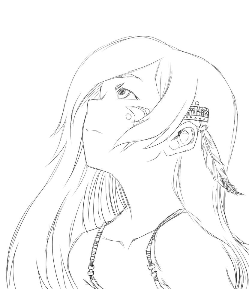 Line Art Anime : Blue sky of summer line art by lime desu on deviantart