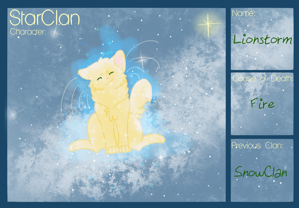 Lionstorm StarClan by Corralfur