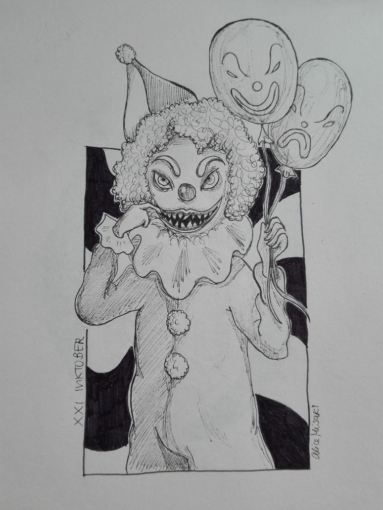 xxi_inktober_2018___clown__by_alicemisak