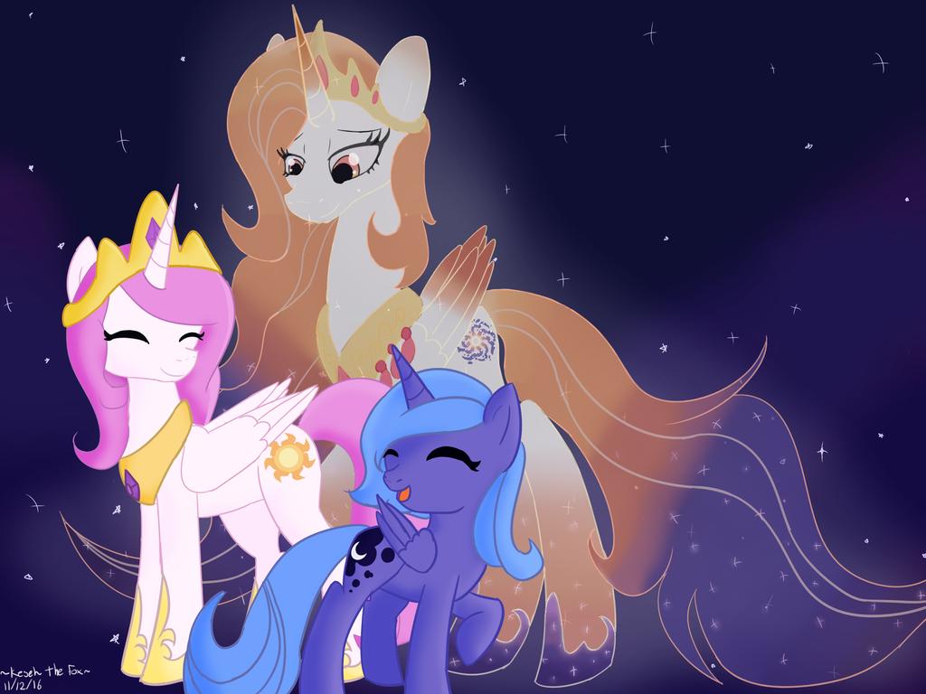 MLP-Luna and Celestia's mom by KesehTheFox