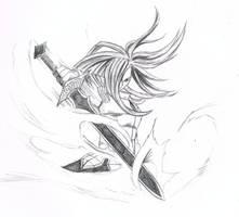 Erza Scarlet Sketch by Romashi