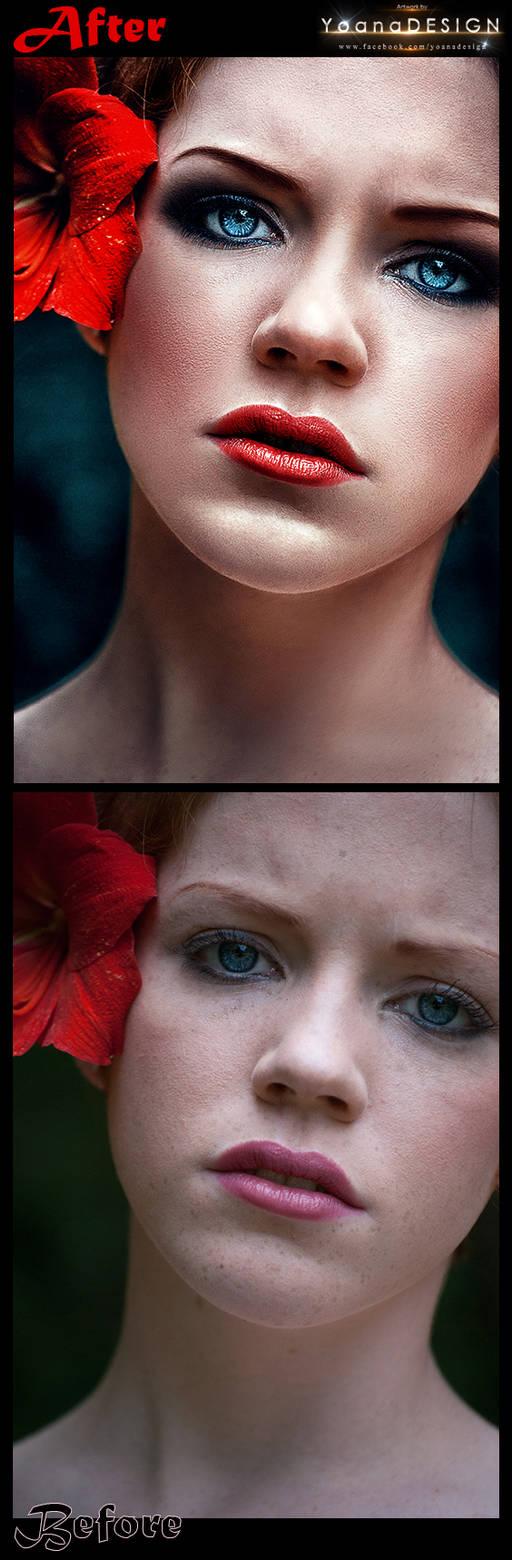 Dark Beauty Before-After by bonbonka