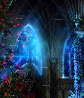 Midnight Fantasy Places Stock Background 1
