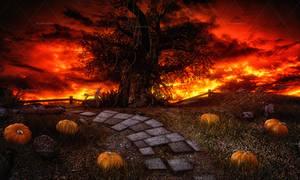Dark Halloween 2 Stock Background 7 by bonbonka