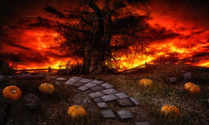 Dark Halloween 2 Stock Background 7 by bonbonka