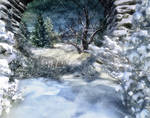 Winter Places Stock Background 2 by bonbonka