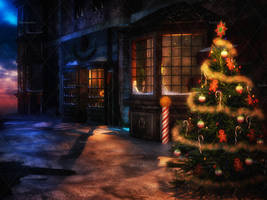Dark Christmas Stock Background by bonbonka