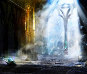 Midnight Fantasy Places Stock Background 4 by bonbonka