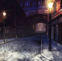 Midnight Fantasy Places Stock Background 5 by bonbonka