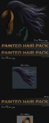 Painted Hair Pack - 5 instant hair by bonbonka