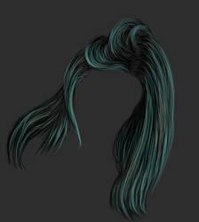 Painted Dark Hair Stock 2 by bonbonka