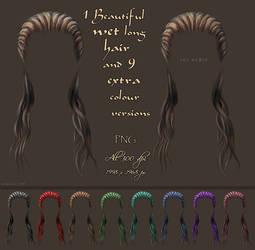 Painted Wet Hair Stock by bonbonka