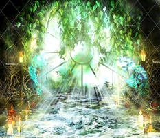Ancient Magic Places Stock Background 2 by bonbonka