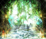 Ancient Magic Places Stock Background 2