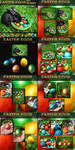Easter Eggs and Bunny Pack - backgrounds and PNG by bonbonka