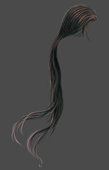 Painted Extremely Long Hair Stock