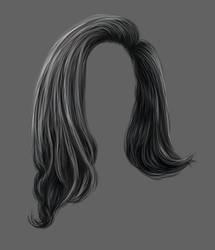 Painted Black PNG Hair Stock by bonbonka