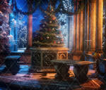 Dark Christmas 2 Stock Background 1 by bonbonka