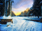 Winter Places 2 Stock Background 2 by bonbonka