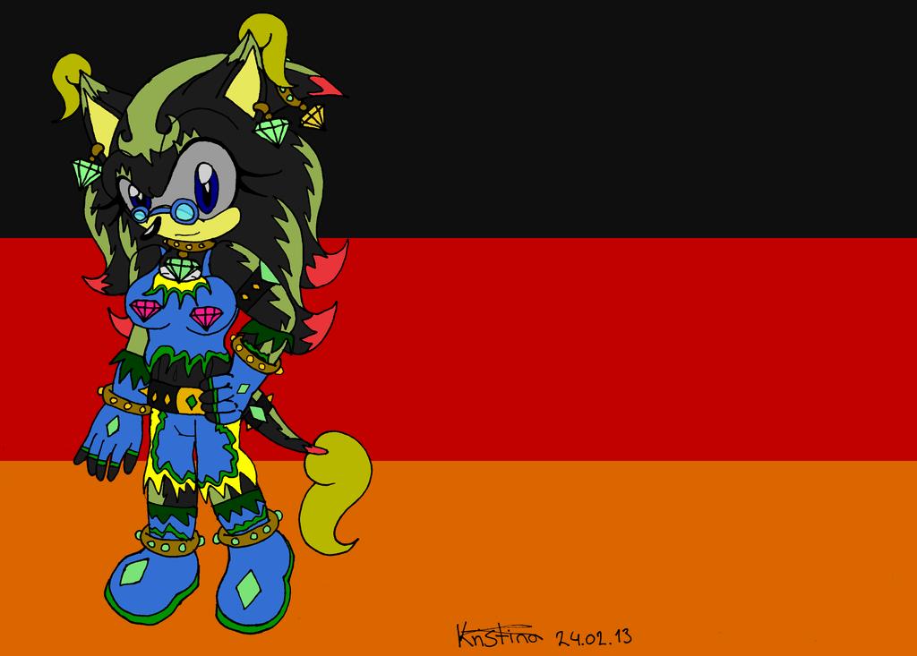 .:Flag Germany:. Rose by DarkKittySucker