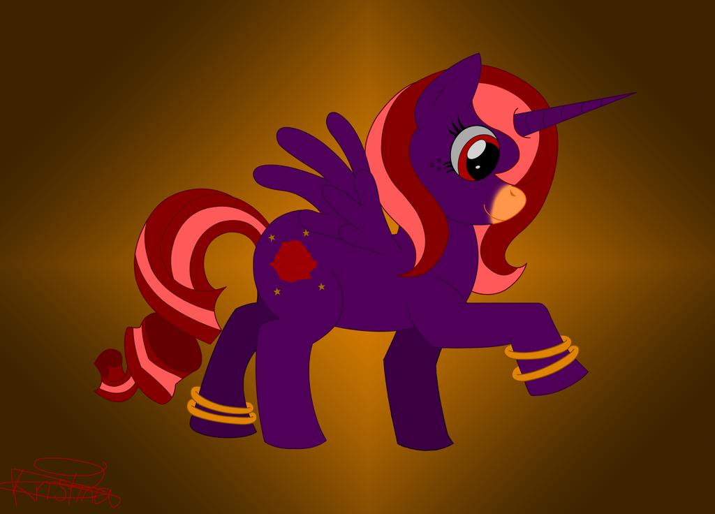 .:Pony OC:. -Crimson Gold- by DarkKittySucker