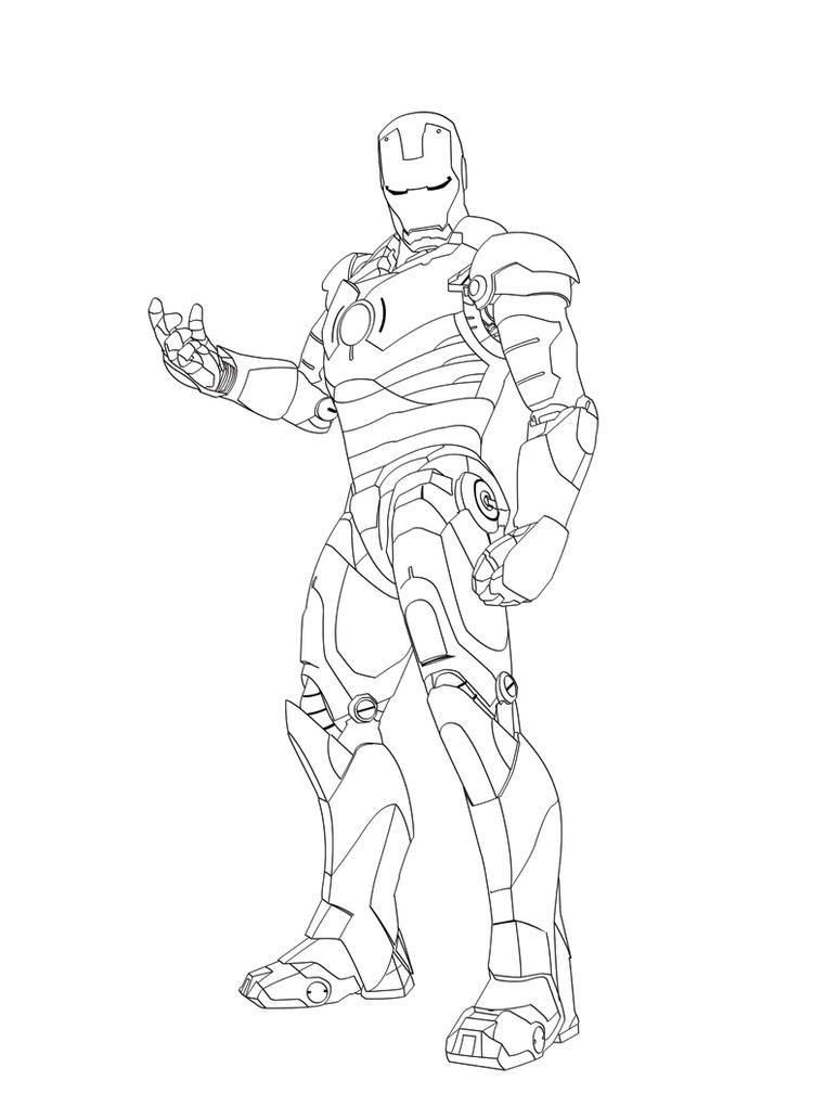 iron man vector line art  by phillydarko on deviantart