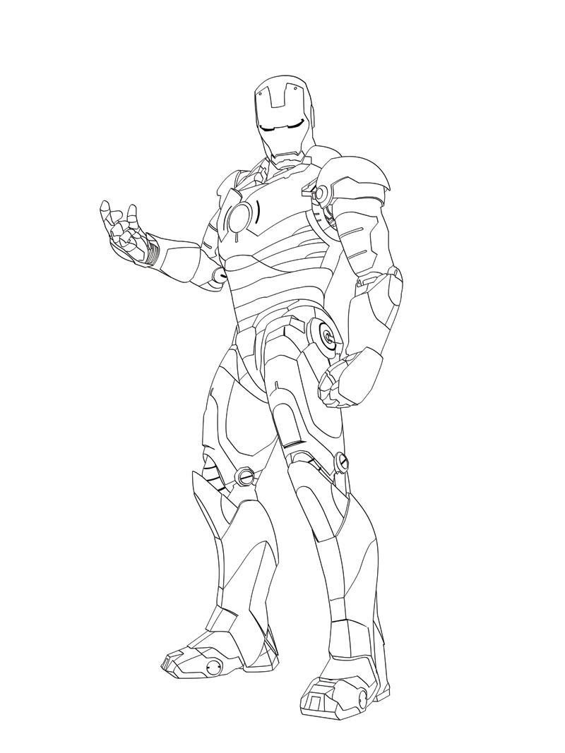 Line Art Man : Iron man vector line art by phillydarko on deviantart