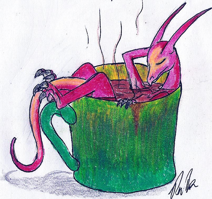Aine having Morning Coffee by Akhrrana