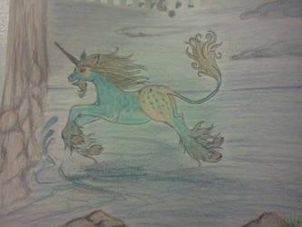 Ava'ni jumping towards the sea by Akhrrana