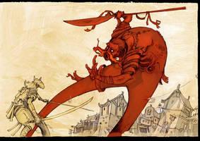 The little samurai by Azertip