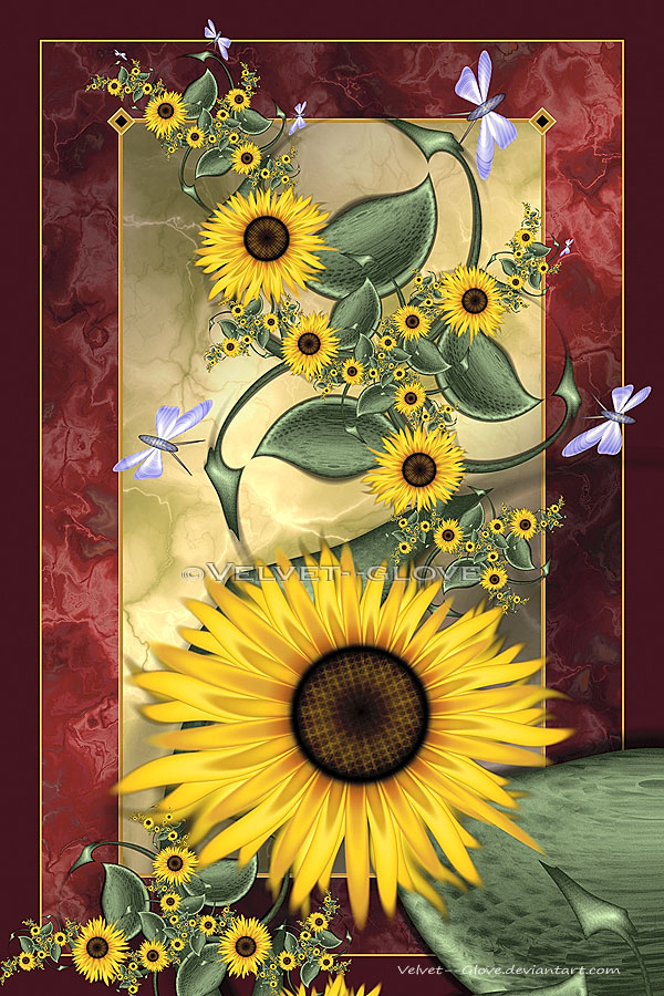 August Sunflowers by Velvet--Glove