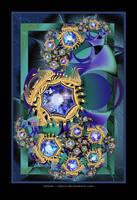 Sapphire Scarabs by Velvet--Glove