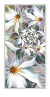 Chiffon Flower Panel